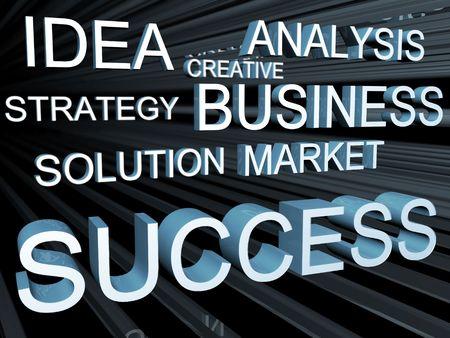 Business objective concept 3d illustration Stock Illustration - 5451571