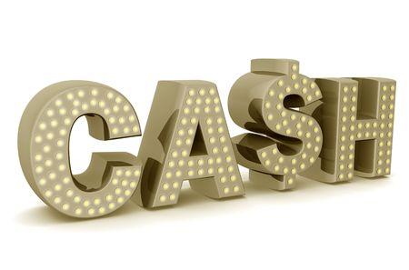 cash: Icono de efectivo con signo de d�lar de ilustraci�n 3d  Foto de archivo