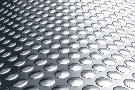 Abstract aluminum with dot pattern background 3d illustration Stock Illustration - 5632770