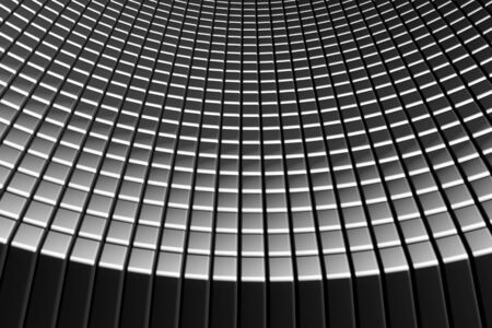 Abstract tiles silver aluminum background with reflection 3d illustration illustration
