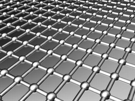 Aluminum lattice silver pattern background 3d illustration Stock Illustration - 5778184