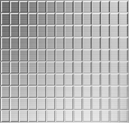 Aluminum lattice silver pattern background 3d illustration Stock Illustration - 5778185