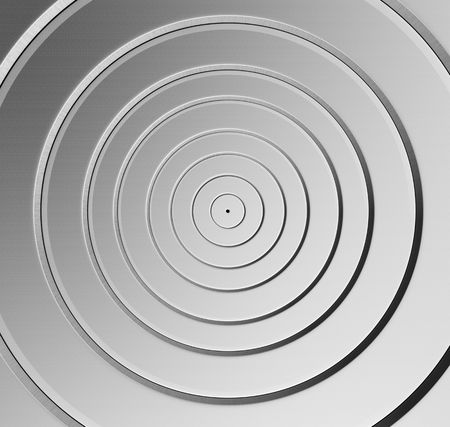 Aluminum circle silver pattern background 3d illustration Stock Illustration - 5778186