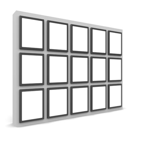showreel: Photos display on the wall select white space alpha to add your photo Stock Photo