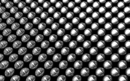 Silver aluminum shiny beans pattern 3d illustration illustration