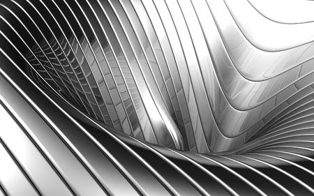 Abstract aluminum wave pattern background 3d illustration illustration