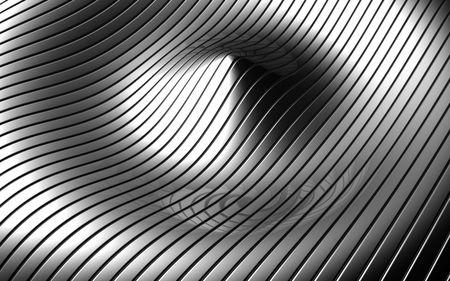 Abstract aluminum ripple pattern background 3d illustration Stock Illustration - 5918947