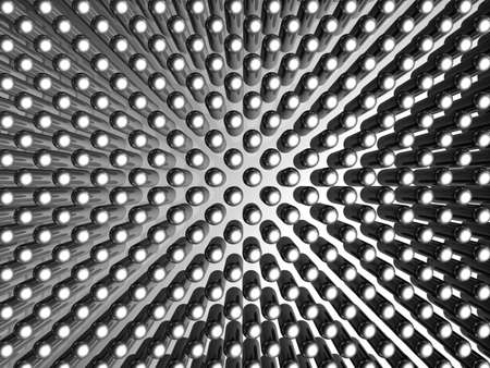Aluminum material capsule pattern background 3d illustration Stock Illustration - 6292711