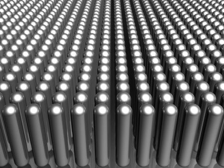reiteration: Aluminum material capsule pattern background 3d illustration