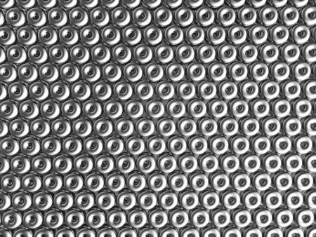 reiteration: Torus pattern shiny metal effect background 3d illustration