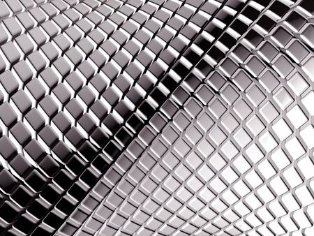 Abstract aluminum square background 3d illustration Stock Illustration - 6393487