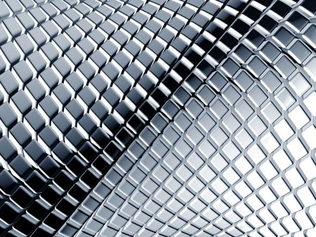 Abstract aluminum square background 3d illustration Stock Illustration - 6393483