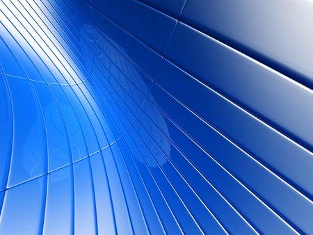 Abstract blue metalic luxury background 3d illustration Stock Illustration - 6499806