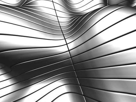 reiteration: Aluminum abstract stripe background with reflection 3d illustration