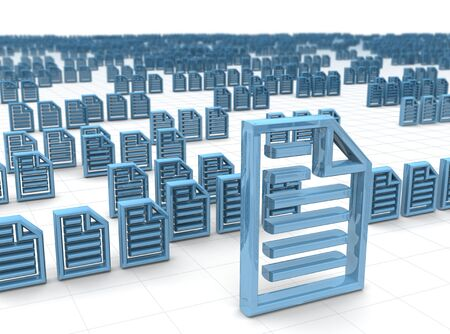 secure files: Electronic data storing and hosting concept 3d illustration