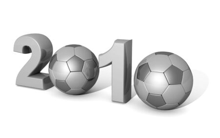 2010 world cup concept used two football represent zero 3d illustration illustration