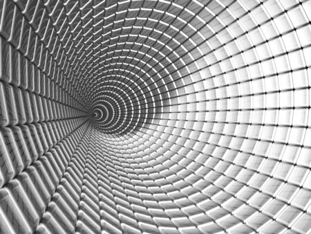 Aluminum tunnel abstract background 3d illustration illustration