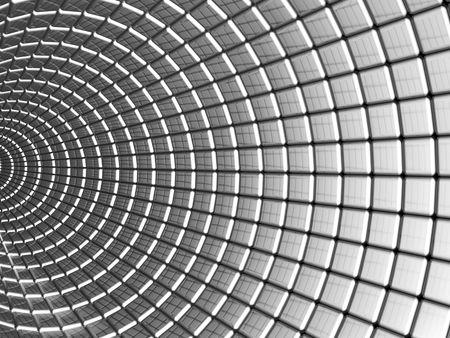 Aluminum square pattern abstract background 3d illustration Stock Illustration - 6746990