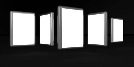 showreel: Photos display in frame Stock Photo