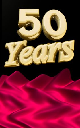 50 years anniversary celebration with the open ceremony red cloth Stock Photo - 6808370