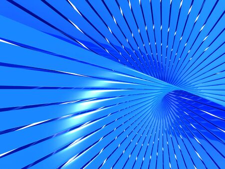 Abstract blue shiny line pattern background with reflection 3d illustration illustration