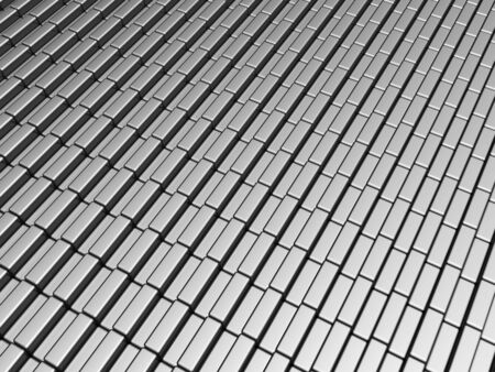 Silver aluminum brick pattern background 3d illustration illustration