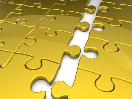 apart: Puzzle break apart 3d rendered