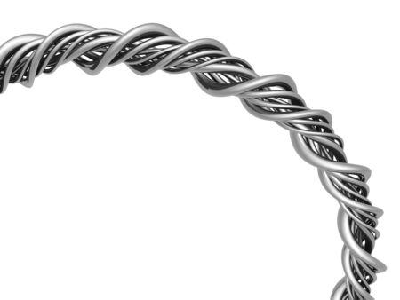 Aluminum abstract string artwork background 3d illustration illustration