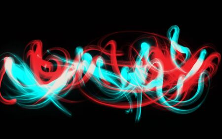 Abstract stroke light effect isolated black background