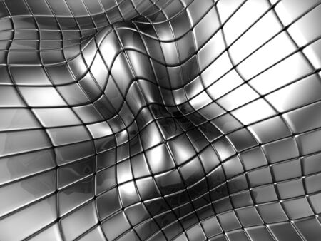 Abstract aluminium silver square background 3d illustration Stock Illustration - 7006352