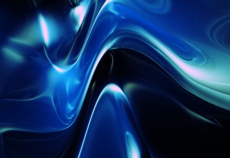 metalic: Blue abstract shape metalic shiny background 3d illustration