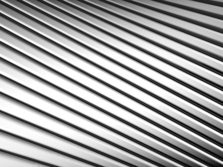 reiteration: Abstract silver shiny metal stripe background 3d illustration Stock Photo