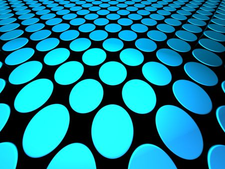 Abstract shiny dynamic dotted pattern background blue color 3d illustration illustration