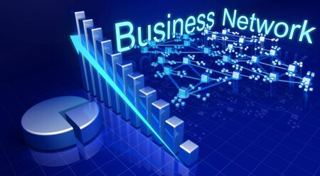 forecasts: Business financial growth and network concept illustration   Stock Photo