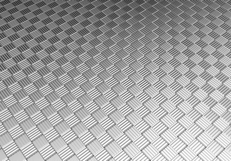 decorration: Aluminum silver tile pattern background 3d illustration