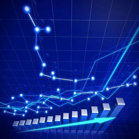 statistique: Illustration concept r�seau et de la croissance financi�re entreprise