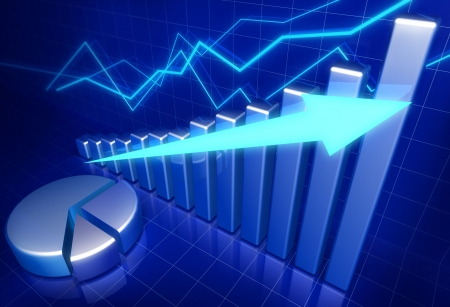 growth: Business financial growth concept 3d illustration