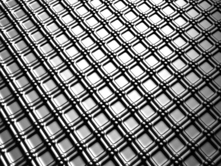 Aluminum silver square pattern background 3d illustration Stock Illustration - 7255839