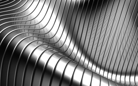distort: Patr�n de fondo aluminio abstracta bandas plata, ilustraci�n 3d  Foto de archivo