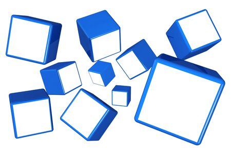 showreel: Falling cube frame display image in white space select alpha