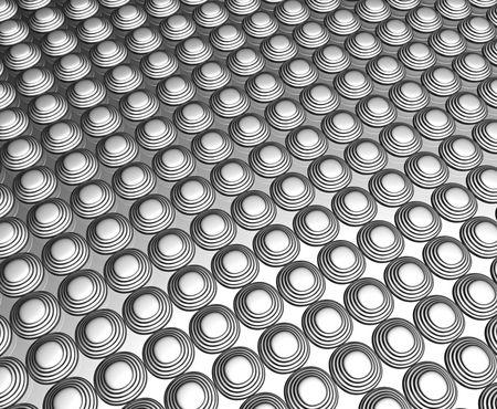 Silver dots pattern background 3d illustration Stock Illustration - 7346408