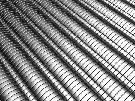 Aluminum abstract silver stripe pattern background 3d illustration Stock Illustration - 7346407