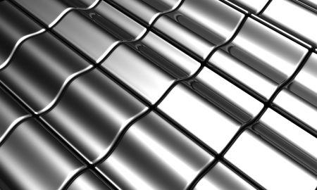 Aluminum silver tile background 3d illustration illustration