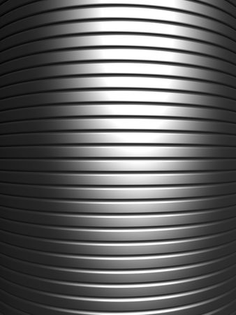 Curve shape silver aluminium stripe background 3d illustration Stock Illustration - 7404597