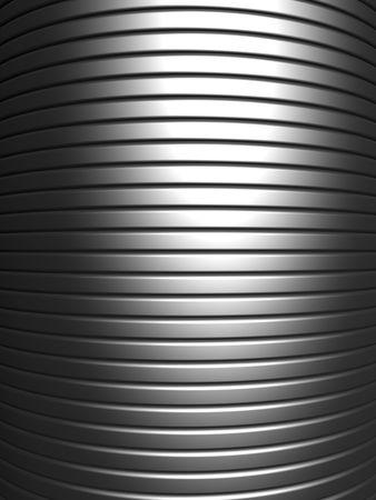 Curve shape silver aluminium stripe background 3d illustration Stock Illustration - 7404597