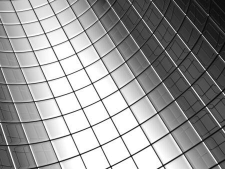 Abstract aluminum curve square pattern background 3d illustration illustration