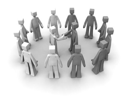 Say no to racism concept handshake between races for peace 3d illustration Stock Illustration - 7454558
