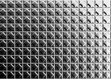 Diamond shape pattern aluminium tile background 3d illustration Stock Illustration - 7509683