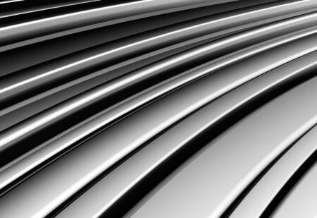 Curve shape silver aluminium stripe background 3d illustration Stock Illustration - 7509682