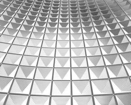 Cruve shape shiny silver background 3d illustration Stock Illustration - 7615403